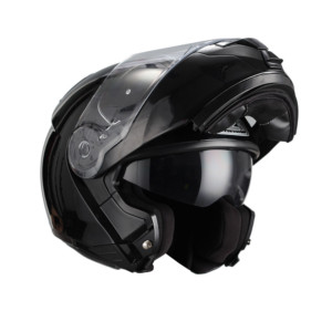Výklopka na motorku Combi Duo černá vyklápěcí