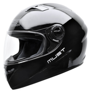 Helma na motorku Must II mono černá