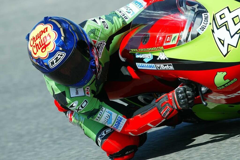 Chuppa Chups Jorge Lorenzo 125cc Grand Prix NZI helma