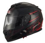 Integrální motocyklová sportovní helma NZI Fiber červená