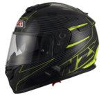 reflexní helma NZI Symbio Duo 2 Fiber černo-žlutá